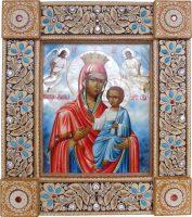 """Икона из бересты """"Пресвятая Богородица Скоропослушница"""""""