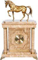 """Сейф-часы """"Лошадь"""" малый (персиковый мрамор)"""