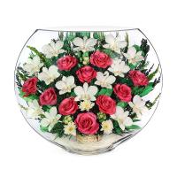 """Композиция из роз и орхидей """"MARY"""""""