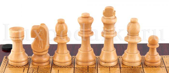 Набор для шахмат и покера из бересты- 5