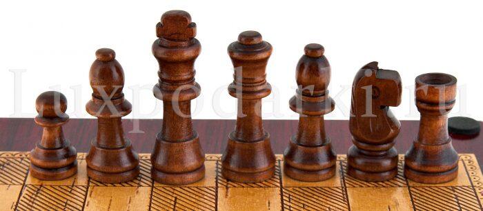 Набор для шахмат и покера из бересты- 3