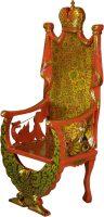 Кресло с геральдикой хохлома