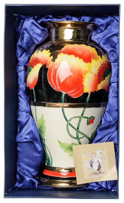 """Фарфоровая ваза  Pavone """"Цветы"""" - 1"""