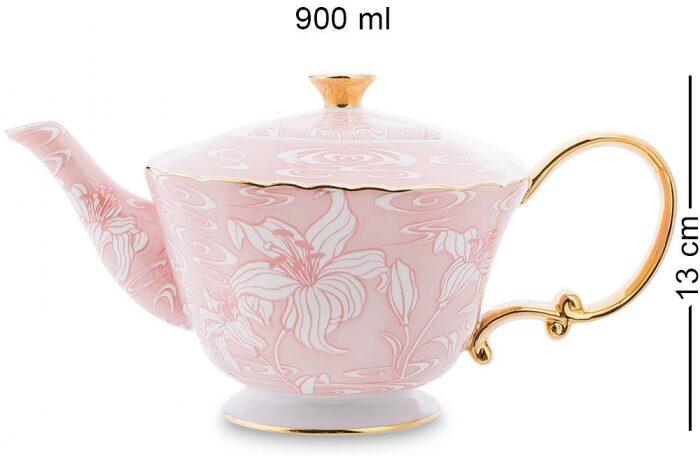 """Чайный сервиз  Pavone """"Фиоре Дорато""""  на 6 персон (15 предметов)- 1"""