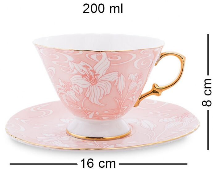 """Чайный сервиз  Pavone """"Фиоре Дорато""""  на 6 персон (15 предметов)- 4"""