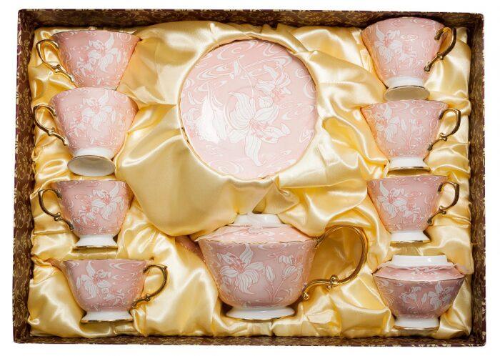 """Чайный сервиз  Pavone """"Фиоре Дорато""""  на 6 персон (15 предметов)- 5"""