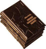 """Книги в кожаном переплете """"Атлант расправил плечи"""" (3 тома)"""
