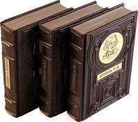"""Подарочные книги в кожаном переплете """"Библиотека великих писателей"""" (30 томов)"""