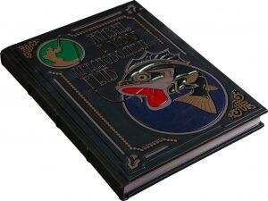 """Книга в кожаном переплете """"Жизнь и ловля пресноводных рыб"""", Л.П.Сабанеев (модель 2)"""
