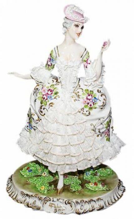 """Статуэтка  Elite & Fabris """"Дама в кружевном платье"""" - 0"""