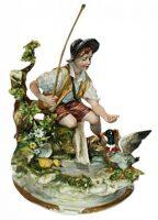 "Статуэтка  Porcellane Principe ""Юноша у ручья"""