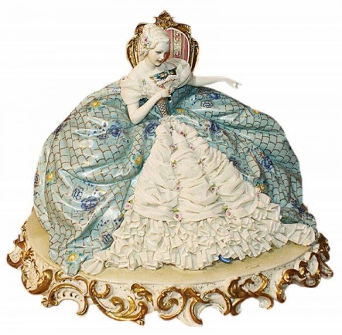 """Статуэтка  Porcellane Principe """"Дама на стуле"""" - 0"""