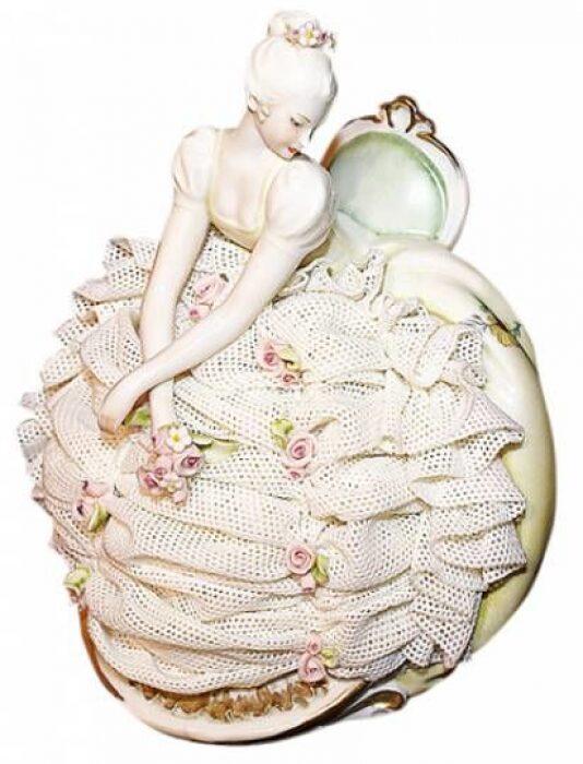 """Статуэтка  Porcellane Principe """"Дама в платье""""  цветная- 0"""