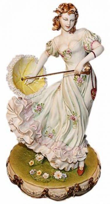 "Статуэтка  Porcellane Principe ""Дама с зонтом"" - 0"