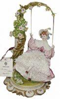 "Статуэтка  Porcellane Principe ""Дама на качелях"""