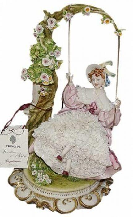 "Статуэтка  Porcellane Principe ""Дама на качелях"" - 0"