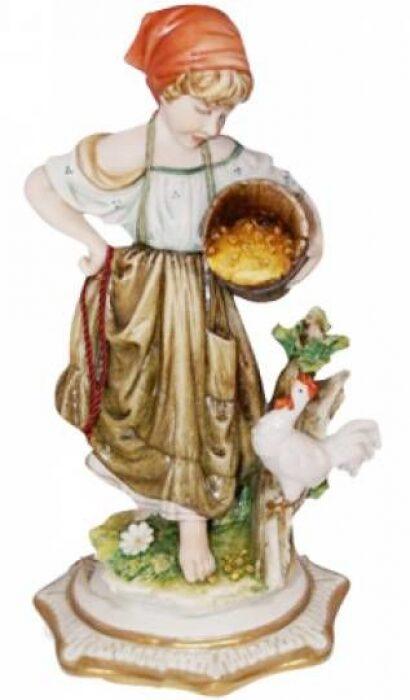 """Статуэтка  Porcellane Principe """"Деревенская девочка"""" - 0"""