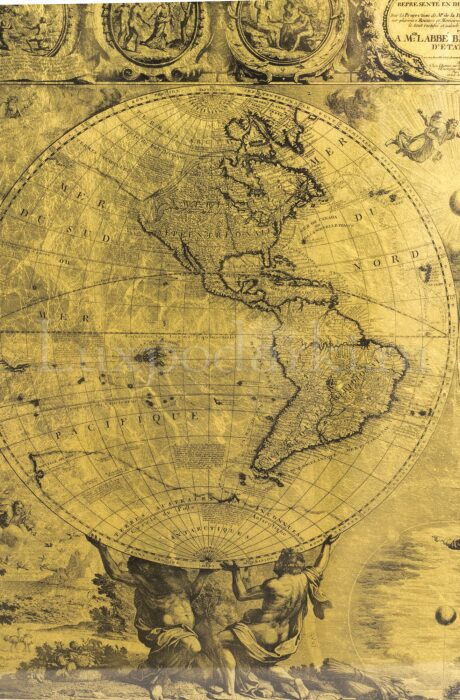 """Картина на сусальном золоте """"Карта древнего мира""""- 2"""