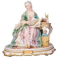 """Скульптура  Tiche """"Мадам Помпадур""""  разноцветная"""