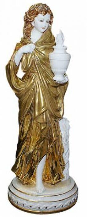 """Скульптура  Tiche """"Зима"""" , цвет: белый с золотым- 0"""