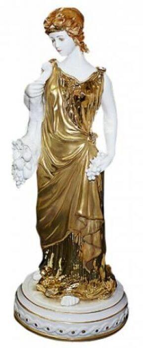 "Скульптура  Tiche ""Лето"" , цвет: белый с золотым- 0"