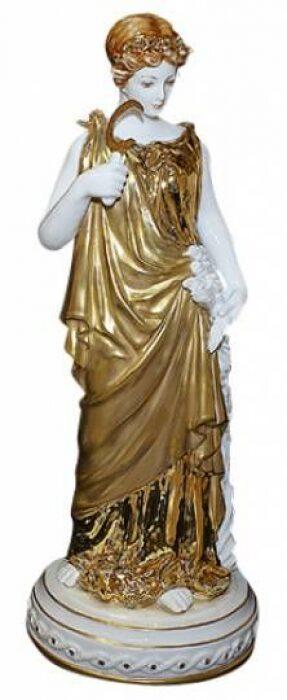 "Скульптура  Tiche ""Осень"" , цвет: белый с золотым- 0"