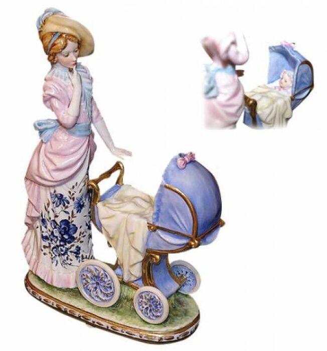 """Скульптура  Tiche """"Дама с детской коляской"""" - 0"""