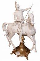 """Скульптура  Tiche """"Улан на коне"""" , цвет: белый"""