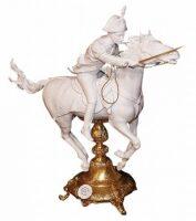 "Скульптура  Tiche ""Карабинер на коне"" , цвет: белый"