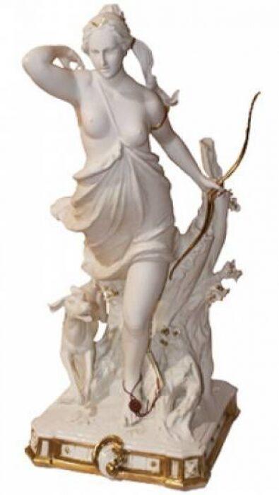 """Статуэтка  Porcellane Principe """"Диана - богиня охоты"""" , цвет: костяной- 0"""