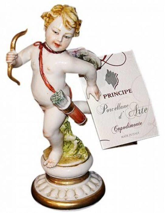 "Статуэтка  Porcellane Principe ""Ангелочек с луком"" - 0"