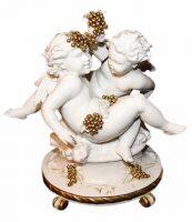 "Статуэтка  Porcellane Principe ""Ангелочки с виноградом"""