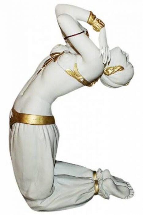 """Статуэтка  Porcellane Principe """"Турчанка в танце""""  отделка золотого цвета- 0"""
