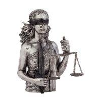 """Скульптура посеребренная  Anglada """"Правосудие"""""""
