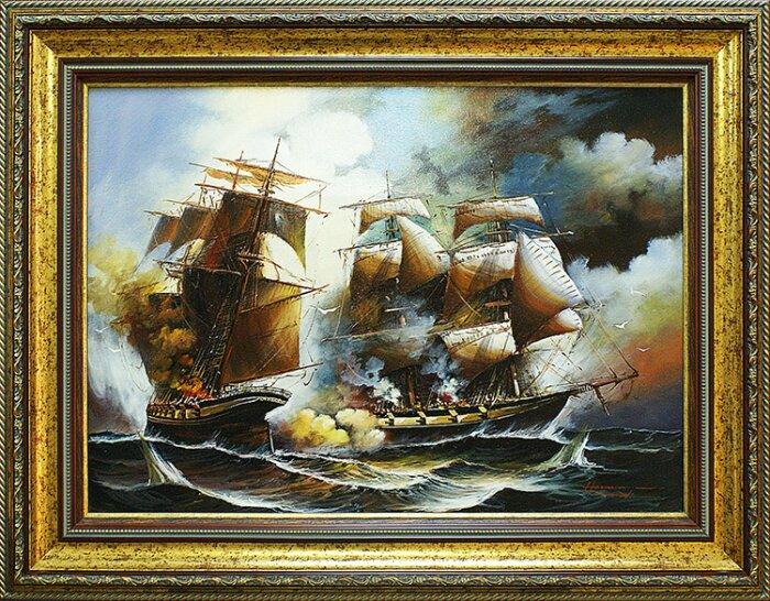 "Картина в раме  Art Atelier ""Морское сражение""- 0"