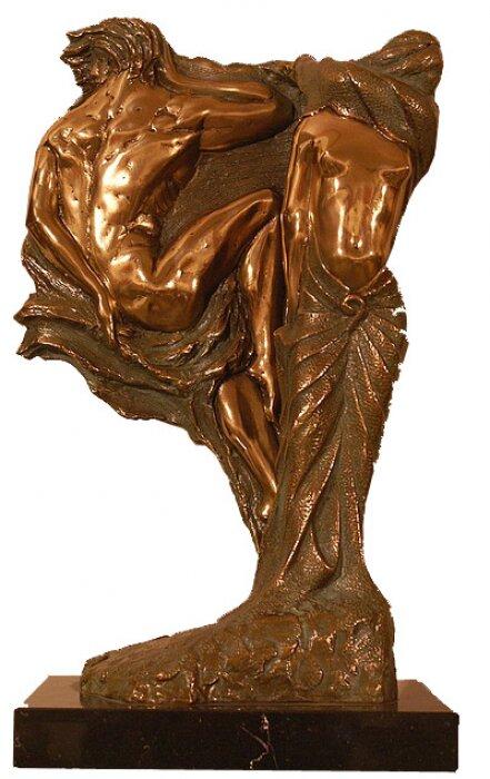 """Скульптура с подсветкой  Venturi Arte """"День и Ночь""""  бронзовая- 0"""