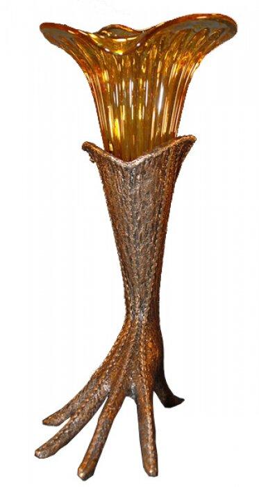 "Ваза  Venturi Arte ""Перчатка""  коричневая со стеклом амбра- 0"