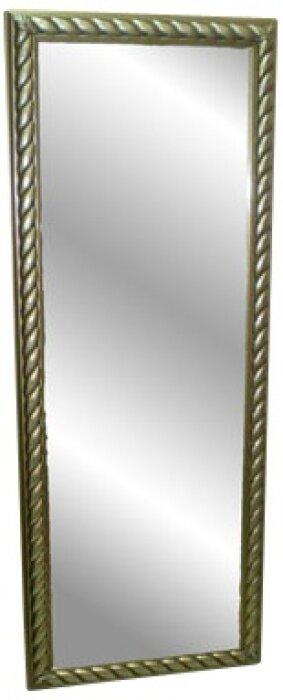 Зеркало в деревянной рамке серебряного цвета Bertozzi Cornici- 0