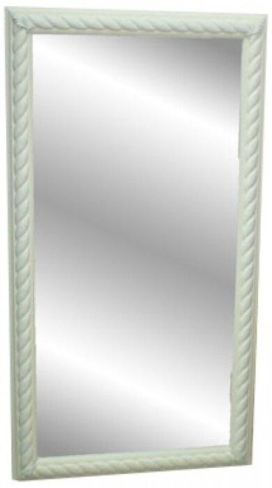 Зеркало в деревянной рамке белого цвета Bertozzi Cornici- 0