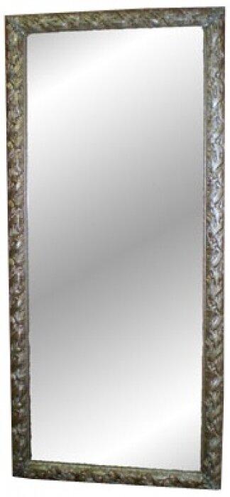 Зеркало с рамкой из дерева серебряного цвета Bertozzi Cornici- 0