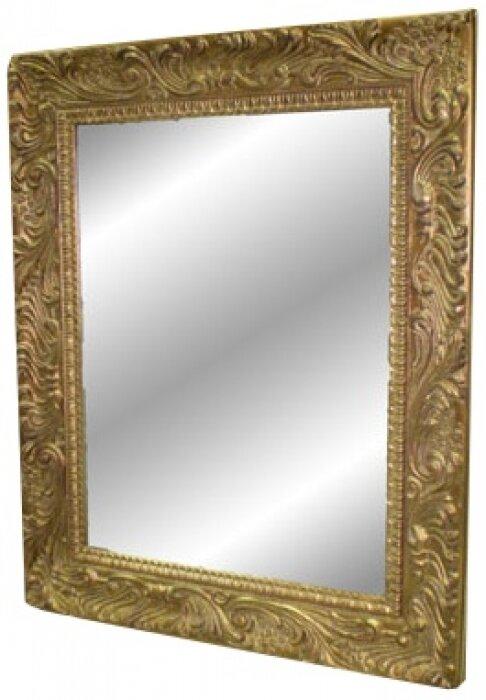 Зеркало с золотистой рамкой из дерева Bertozzi Cornici- 0