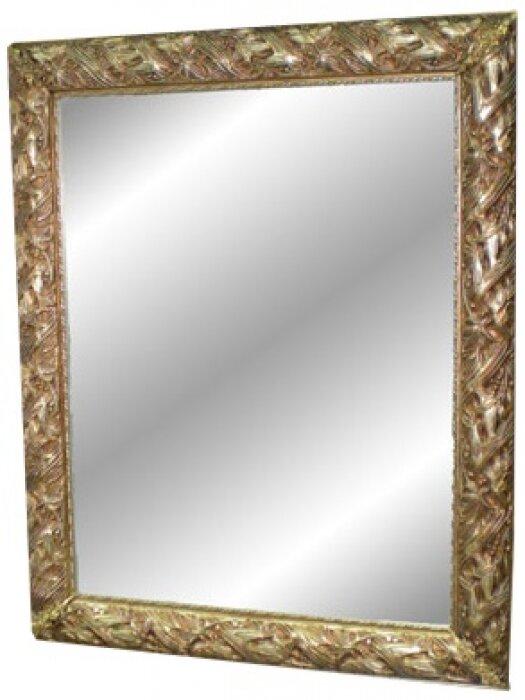 Зеркало с рамой из дерева золотистого цвета Bertozzi Cornici- 0