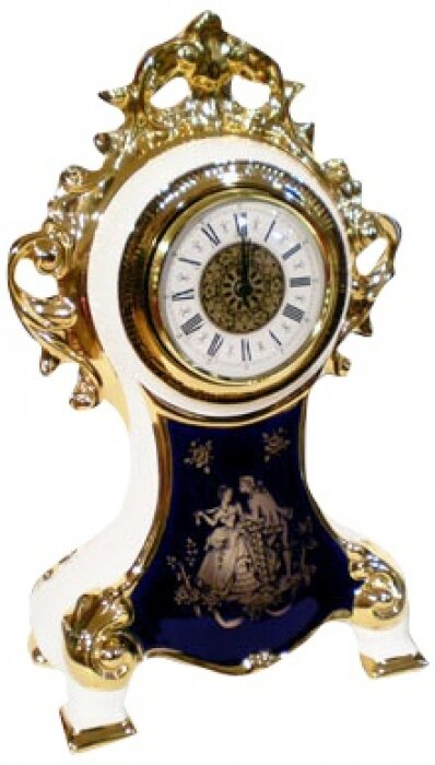 Часы белые с синим рисунком Bruno Costenaro- 0