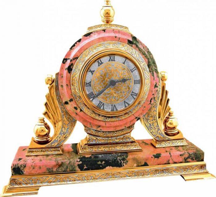 Каминные часы (родонит)- 0