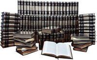 """Подарочные книги в кожаном переплете """"Библиотека зарубежной литературы"""" Robbat mogano (100 томов)"""