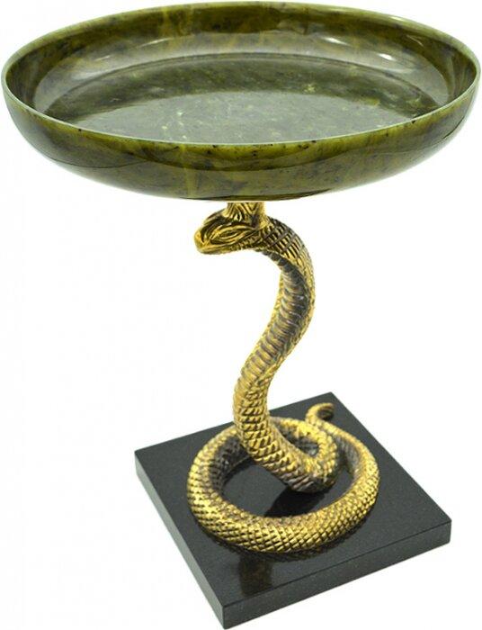 """Чаша из камня """"Кобра"""" (нефрит)- 0"""