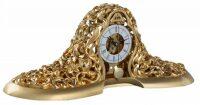 Настольные часы, кварцевые, декор золотого цвета Linea Argenti