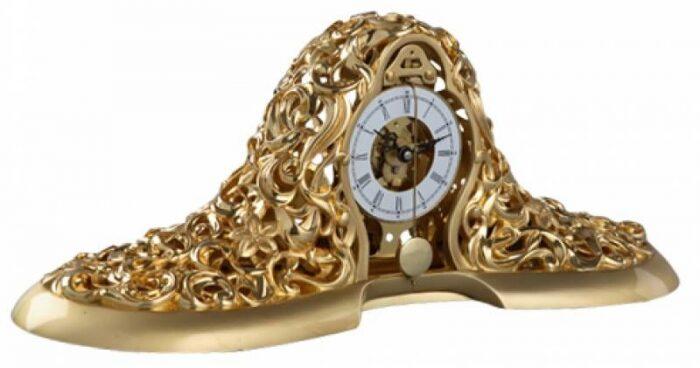 Настольные часы, кварцевые, декор золотого цвета Linea Argenti- 0