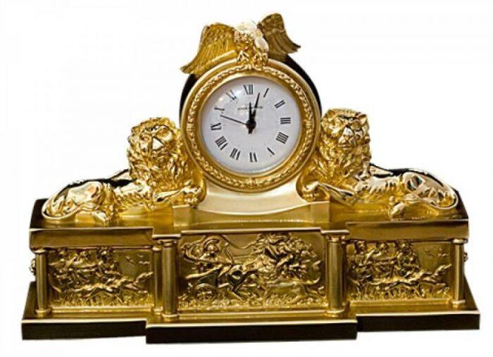 """Часы  Linea Argenti """"Охота""""  кварцевые, цвет: золотой- 0"""