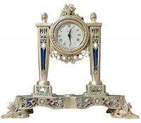 Настольные часы с маятником и колоннами Linea Argenti